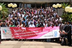 All the participants in the Youth 21 Forum, held at Nairobi, Kenya get together to discuss youth leadership, governance, participation and awareness at a global level. - Picture posted by  Abhijit Surya - on Global Youth Desk website: http://www.globalyouthdesk.org/Youth21/Youth21_Home/Youth21_Article.aspx?mid=79