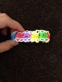 Starburst rubber band bracelet