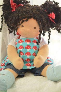 """Pixie, a 15"""" Sitting Doll by Bamboletta Dolls"""