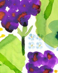 No.180717-01 #hydrangea #illustration #flower #pattern #colorink #Textile #イラストレーション #イラスト #パターン #紫陽花 #カラーインク #テキスタイル