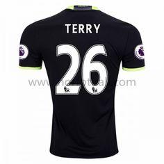 Billige Fotballdrakter Chelsea 2016-17 Terry 26 Borte Draktsett Kortermet