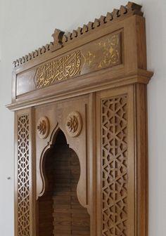TURKEY - Istanbul-Ferah Merkez Camii Wooden Door Design, Main Door Design, Wooden Doors, Interior Design Living Room, Interior Decorating, Arabian Decor, Indian Doors, Mosque Architecture, Pooja Rooms