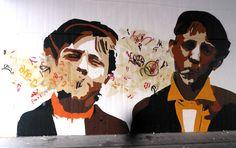 Festival Poliniza Urban Street Art, Urban Art, Bee Free, Bansky, Community Art, Creative Art, Pop Art, Graffiti, Art Pieces
