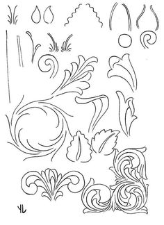 Resultado de imagem para drawings patterns for carving in leather Leather Stamps, Leather Art, Leather Design, Leather Tooling, Leather Craft Tools, Leather Projects, Leather Working Patterns, Knife Patterns, Leather Workshop