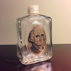 Vintage Glass Avon Bottle w/ George Washington by fahnaobscura