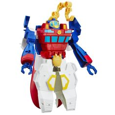 Robots and humans saving the day, working together the Rescue Bots way! Little heroes can imagine rolling to the rescue with one of their favorite Rescue Bots figures. They can pretend to go on daring
