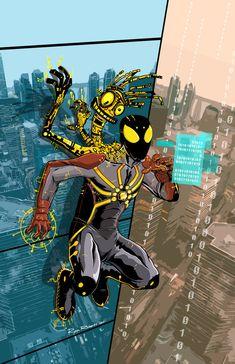 Cypher Spider by bonesomething on DeviantArt Spider Art, Spider Verse, Marvel Art, Marvel Comics, Warlock Marvel, Plantas Versus Zombies, Flash Wallpaper, Vigilante, Superhero Characters