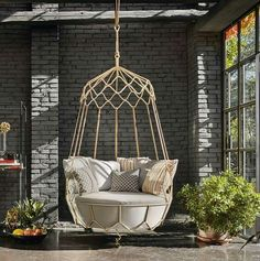 Hanging bubble chair under 200 globe swing for room architecture. swings for room girl bedroom would love swing like indoor swings for. Hanging Swing Chair, Hammock Swing, Swinging Chair, Hanging Chairs, Hanging Beds, Backyard Hammock, Outdoor Hanging Chair, Balcony Swing, Indoor Hammock Chair
