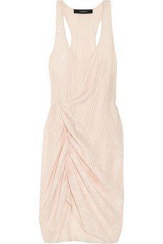Thakoon Addition Draped jacquard silk twill dress