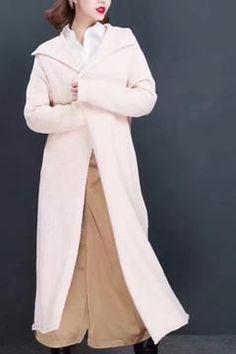 Long Warm Sweater Coat