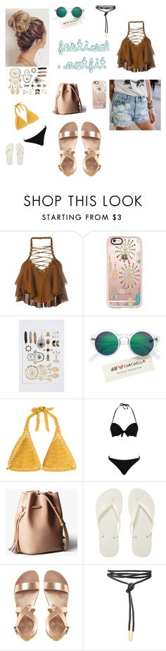 """""""🙌"""" by jpxangeloide ❤ liked on Polyvore featuring Balmain, Casetify, H&M, SHE MADE ME, ELIZABETH HURLEY beach and Havaianas"""