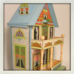Old cardboard house