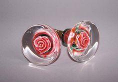 Roses. Beautiful Vintage Door Handle. Set of 2 by RarityFromAfar