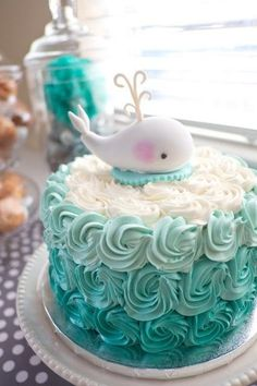 Whale of a Time - Adorable Baby Shower Cakes - Photos