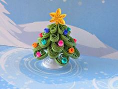 Quilled 3d Xmas tree