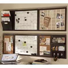 Pottery Barn Build Your Own - Daily System Components - Espresso stain (18 CAD) ❤ liked on Polyvore featuring home, home decor, office accessories, magnet calendars, pottery barn, magnetic calendar, magnetic bulletin board and magnetic chalk board