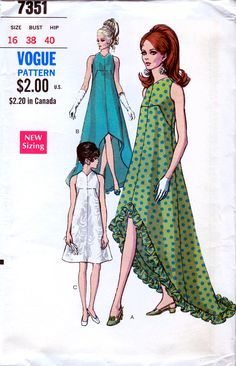 Vogue 7351 Special Design Vintage 60s Misses' by retrowithlana, $54.00