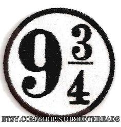 Platform 9 3/4 Patch by StoriedThreads on Etsy, $7.00
