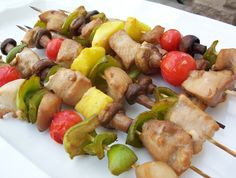 Hawaiian Chicken Kabobs The marinade is the key to these great kabobs. They only need 1 hour in the refrigerator to marinate.