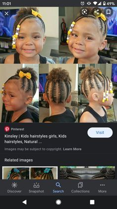 Infant Hairstyles, Girl Hairstyles, Natural Hair Styles, Girls, Baby, Collection, Toddler Girls, Daughters, Maids