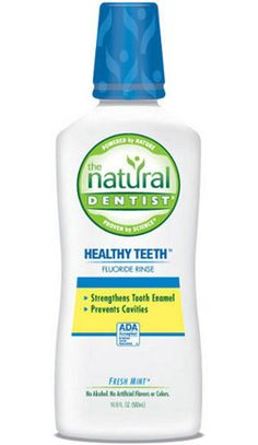 Natural Dentist Healthy Teeth And Gums Anticavity Fluoride Rinse - Fresh Mint - Oz How To Prevent Cavities, Best Teeth Whitening, Best Oral, Healthy Teeth, Mouthwash, Oral Health, Dental Health, Fresh Mint