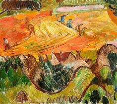 CUNO AMIET  (Solothurn 1868-1961 Oschwand)  Ernte. 1918