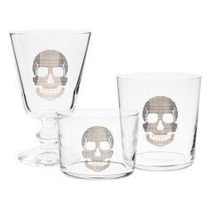 Zara home. Skull glass set