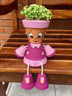 10 Best Diy Clay Pot Crafts Ideas And Designs For 2020 www. 10 Best Diy Clay Pot Crafts Ideas And Designs For 2020 www. Flower Pot Art, Flower Pot Design, Clay Flower Pots, Flower Pot Crafts, Flower Planters, Clay Pot Projects, Clay Pot Crafts, Diy Clay, Flower Pot People