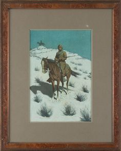 Frederic Remington - The Cossack Post (Cavalryman); Medium: chromolithograph; Dimensions: 17 X 11.5 in (43.18 X 29.21 cm)