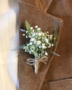 baby's breath boutonniere, wedding ideas , spring wedding You are in the right place about country wedding bouquets Here we offer you the most beautiful pictures about the wedding bouquets classic you Simple Wedding Bouquets, Simple Weddings, Floral Wedding, Spring Weddings, Rustic Wedding Flowers, Spring Wedding Flowers, Garden Weddings, Summer Wedding, Wedding Colors