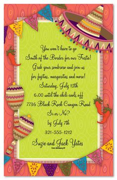 mexican parties | Mexican Party Party Invitations, 22319