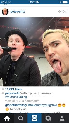 Pete's concert selfies are the reason i breathe--------#muttonbusting