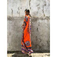 /Ethnic Kaftan Orange Dress Evening Dress Beach Cover Up Resort Wear ($29) ❤ liked on Polyvore featuring intimates, dresses, grey, women's clothing, embellished kaftans, sheer caftan and sheer kaftan