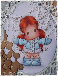 Handmade by Krista Magnolia Stamps, Cosy, Smurfs, Cards, Handmade, Fictional Characters, Hand Made, Map, Fantasy Characters