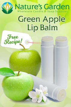 Free Green Apple Lip Balm Recipe by Natures Garden