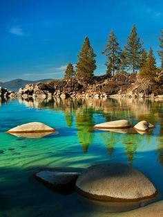 Clear, Lake Tahoe Sierra, California United States
