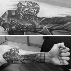 3d Mens Forearm Motocross Tattoo Design