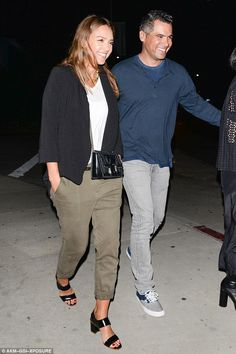 Smitten! Jessica Alba and husband Cash Warren put on a loved-up display following dinner date on Friday