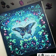 Amazing! #Repost @black_aneri with @repostapp  #aelvamágica   Book: #magicaljungle by #johannabasford   Pencils & pens: #stabilo #fabercastell #kohinoor #mondeluz72  #coloringbooks #colouringbookforadults #adultcoloring #adultcolouring