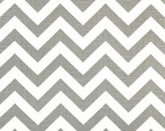 Kitchen curtains?                          Zig Zag Ash and White by Premier Prints