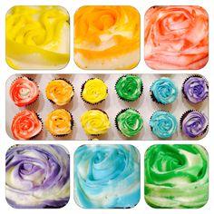 ❤rainbow cupcakes