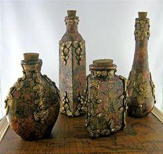 Treasure Bottle - Minis Created by Jayne Ayre of Kismet Clay Designs