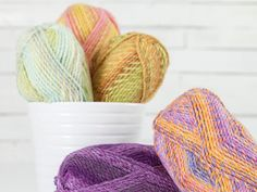 Lion Brand Tweed Stripes Yarn