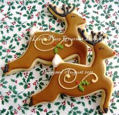 New Cookies Decorated Christmas Gingerbread Ideas Christmas Cookies Packaging, Christmas Sugar Cookies, Christmas Sweets, Christmas Gingerbread, Noel Christmas, Holiday Cookies, Reindeer Christmas, Reindeer Poop, Wood Reindeer