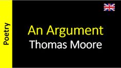 Poetry in English - Sanderlei Silveira: Thomas Moore - An Argument