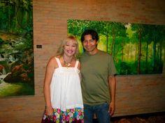 Rosylene Pinto na Abertura da Exposição Dentro da Mata do Artista Plastico Miguel Penha...30.10.2012