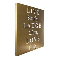 Live Laugh Love Metal Wall Art Inspirational Words Home Quote Decor Plaque 22x12 * For more information, visit image link.