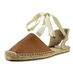 Soludos Women's Classic Sandal Leather Tan Sandal 10 B - Medium. Cowhide.