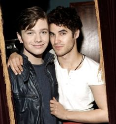 Photo of Chris and Darren for fans of Darren Criss and Chris Colfer.