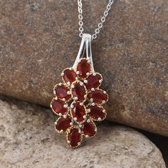 Jalisco Fire Opal Pendant with Chain in Platinum Overlay Sterling Silver (Nickel Free)